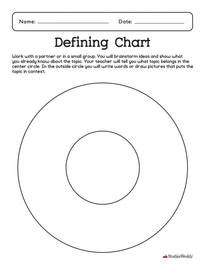 Defining Chart Graphic Organizer