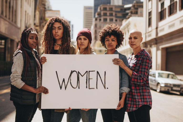 Women promoting gender equality