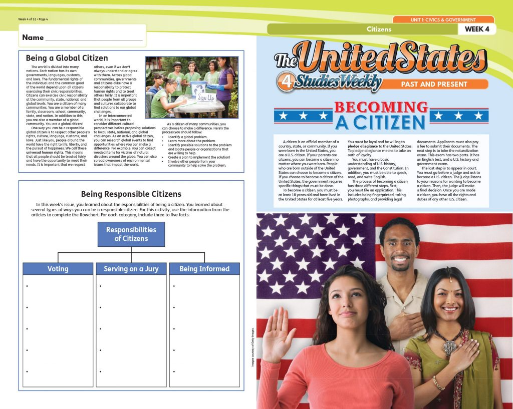 Becoming a citizen studies weekly publication