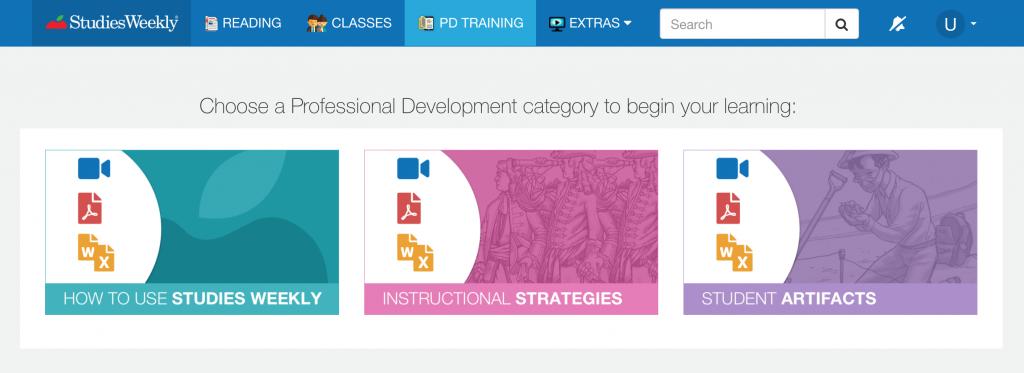 Studies Weekly Online PD training