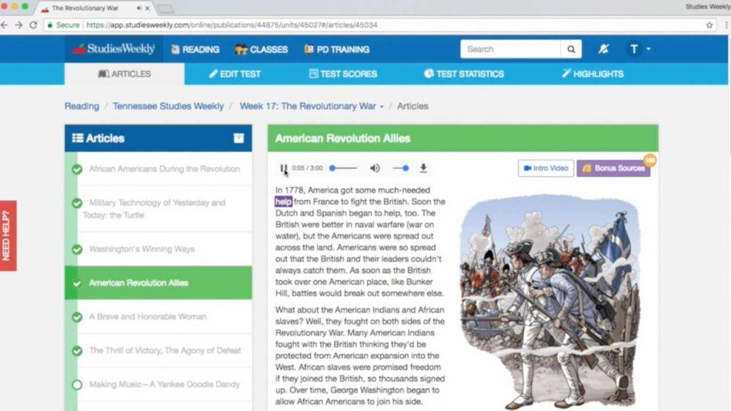 Example of studies weekly online social studies publication