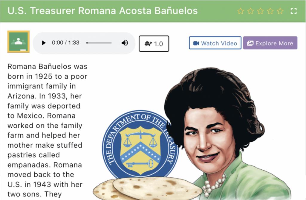 Studies Weekly Article on Romana Acosta Bañuelos