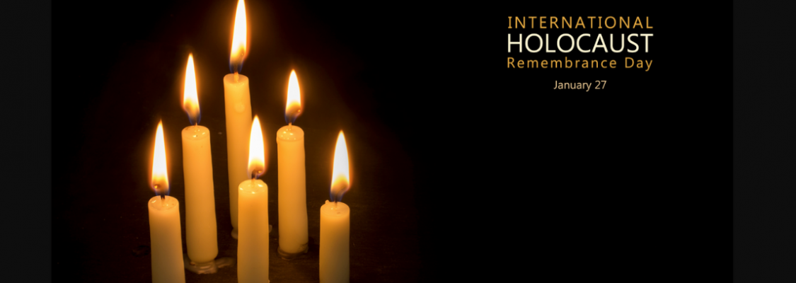 Candles honoring International Holocaust Remembrance Day