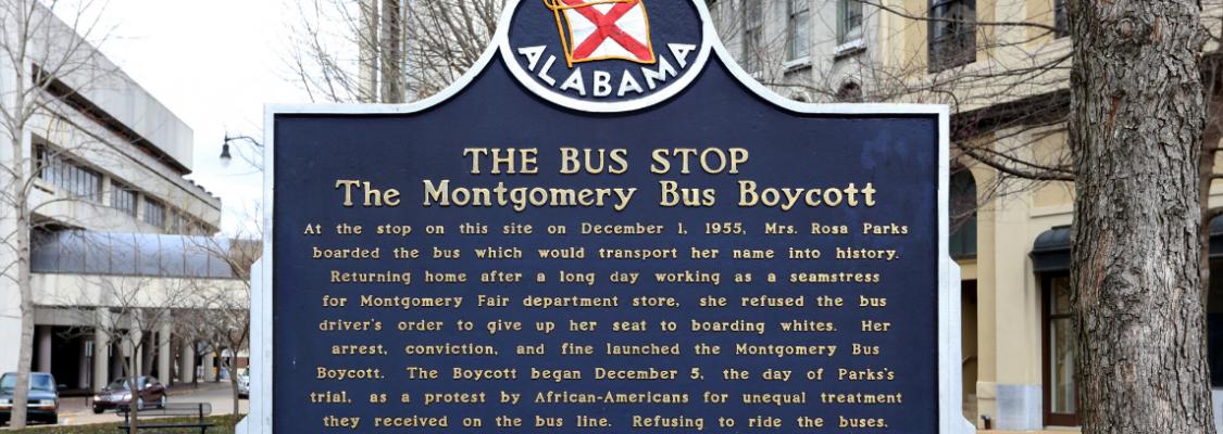 Montgomery Bus Boycott Sign