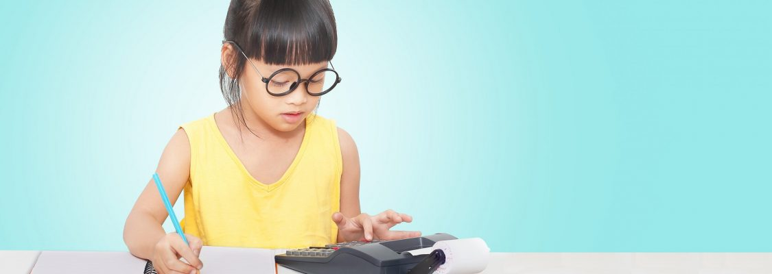 A student learning how to manage money by keeping a budget.